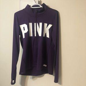 PINK Victoria Secret Purple Athletic Sweater